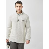 Weird Fish Mens Cruiser Classic 1/4 Zip Macaroni Fleece, Beige