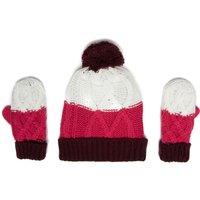 Peter Storm Girls Hat and Glove Set, Multi