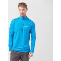 Berghaus Men's Super Tech Long Sleeve Zip Top, Blue