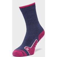 Brasher Women's Walker Socks, Purple/Navy/Pink