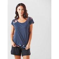 Roxy Women's Liquid Sunshine T-Shirt, Navy