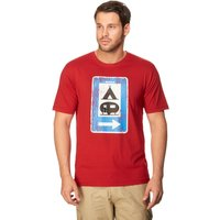 Peter Storm Mens Sign Tee, Red
