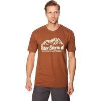 Peter Storm Mens Rocky T-Shirt, Brown
