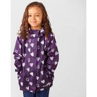 Peter Storm Kids Patterned Packable Jacket - Purple/Puphrt, Purple/PUPHRT