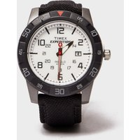 timex timex expedition rugged analogue watch  black, black