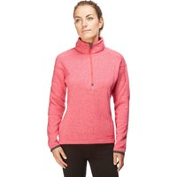 Peter Storm Womens Knit Look Half Zip Fleece, Pink