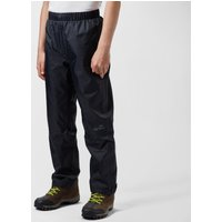 Peter Storm Kids € Unisex Waterproof Over Trousers - Black/Black, Black/Black