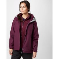Peter Storm Womens Lakeside 3 in 1 Waterproof Jacket, Purple