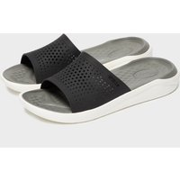 Crocs Men's Literide Slides, Black/Black/White