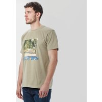 One Earth Mens Hit The Road T-Shirt, Beige