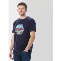 One Earth Mens Never Stop T-Shirt, Navy