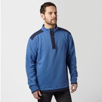 One Earth Men's William Half Zip Pullover, Blue