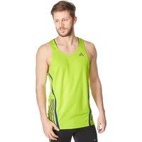 Adidas Mens SuperNova Singlet Vest, Green
