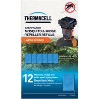 THERMACELL Large Backpacker Mosquito & Midge Repeller Refills (12 Pack), MATS/MATS