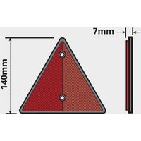 Maypole Reflective Trailer Triangle 2 Pack - Red, Red