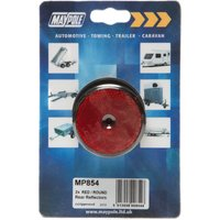 Maypole Round Red Reflector, Red