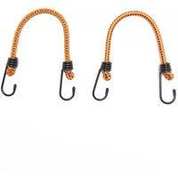 """Summit 18"""" Luggage Elastics (Pair), Orange/Orange"""