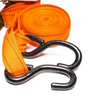 Summit 5m Ratchet Strap And Hook - Orange, Orange
