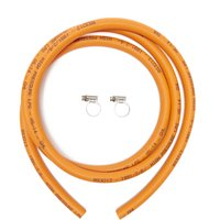 Calor Gas 8mm High Pressure Hose & Clips, Orange