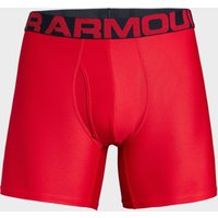 Under Armour Men's UA Tech Mesh 15cm Boxerjock 2 Pack, Red