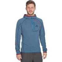 Mountain Equipment Mens Integrity Hooded Zip Tee, Blue