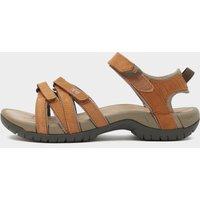 Teva Women's Tirra Leather Sandal, Brown/Brown