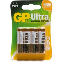 Gp Batteries Ultra Alkaline AA 4 Pack, Assorted