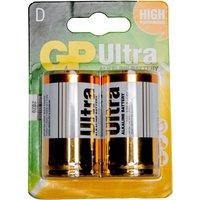 Gp Batteries Ultra Alkaline D 2 Pack -