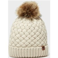 Alpine Women's Beth Bobble Hat, Beige/Beige