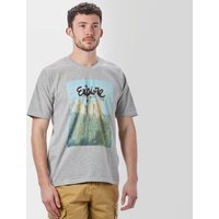 One Earth Mens Eagle Graphic Tee, Grey