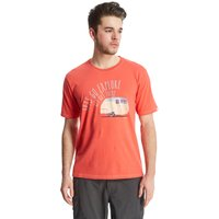 One Earth Mens Gull Graphic Tee, Red