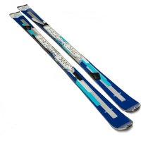 Rossignol Womens Unique 6 Skis with Xelium Saphir 110 Bindings, Blue
