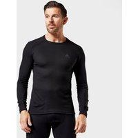 Odlo Men's Active Long Sleeve Crew Shirt, Black/BLK