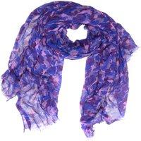 One Earth Womens Cotton Camo Scarf, Purple
