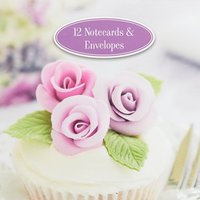 Gifted Cupcake Notepad and Envelope - Purple, Purple