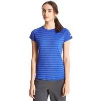 Berghaus Womens Stripe Short Sleeved Baselayer, Blue