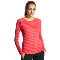 Berghaus Womens Stripe Long Sleeved Baselayer, Pink
