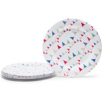 Eurohike Plates Set of Four, Cream
