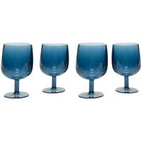 Eurohike Summer Fte - Pack Of 4 Wine Glass, Blue