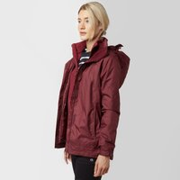 Peter Storm Womens Gina 3 in 1 Waterproof Jacket, Purple