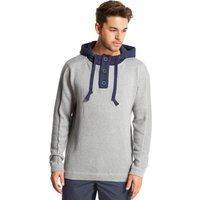 One Earth Mens Button Hoody, Grey