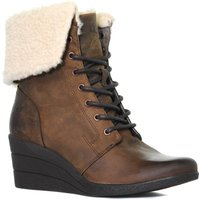 Ugg Womens Zea Leather Ankle Boot, Brown