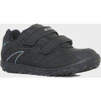 Hi Tec Boys Meridian Waterproof Velcro Shoe, Black