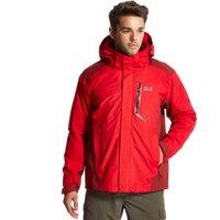 Jack Wolfskin Mens Prisma 3 in 1 Jacket, Red