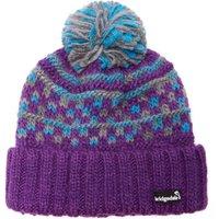 Bridgedale Womens Pom Beanie, Purple