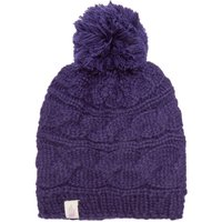The North Face Womens Cable Pom Pom Beanie, Purple