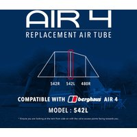 Eurohike Air 4 Tent Replacement Air Tube - 542L, Assorted