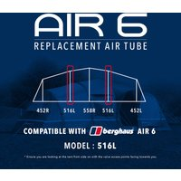 Eurohike Air 6 Tent Replacement Air Tube - 516L, Assorted