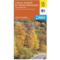 Ordnance Survey OL 55 Explorer Loch Laggan & Creag Meagaidh Map, Orange