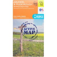Ordnance Survey Explorer Active OL10 Arundel & Pulborough Map, Orange